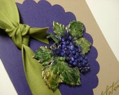 Congratulations Card Purple With Foiled Grapes