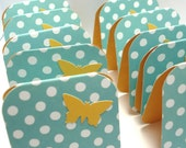 Mini Cards Butterfly and Polka Dots Set Of Ten