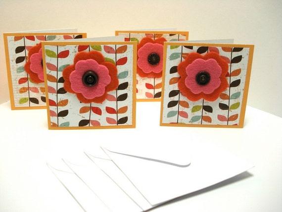 Note Card Set  Modern Floral