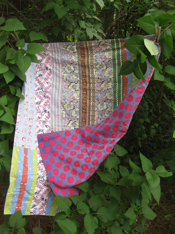 Vintage Pieced Baby Sheet with Very Old Fabric