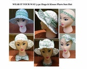 Plarn Hat - Sun Hat with wide brim crochet pattern