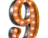 """Circus Light Number 9 - Rusty - 24"""" Vintage Marquee Lights - The Original!"""