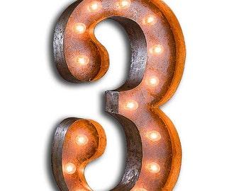 "SALE Number 3 - 24"" Vintage Marquee Lights"