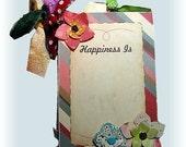 Happiness Girl Book, Mini Scrapbook, Memory Album-Friend, Sister, School Chum, Pocket Book, Brag Book, Best Friend Book, Photo album