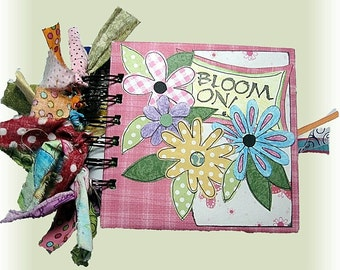 Creative and Colorful Mini Scrapbook Album, with Feminine Hand Drawn Artwork