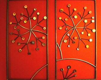 Contemporary Wall Flower Panels