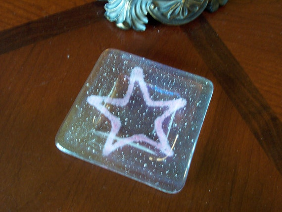 ON SALE NOW Pink Star Glass Tray Fused Tribute