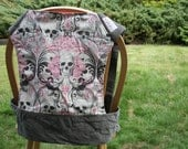 Mei Tai Baby Carrier Pink and Grey Skulls by KataraBaby