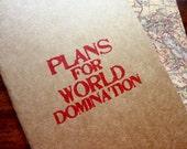 Plans For World Domination Moleskine Cahier