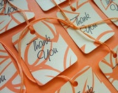 Peaches & Cream Thank You Tags (Set of 10)