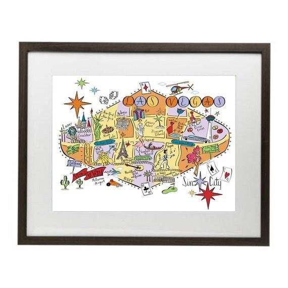 Las Vegas City Map Art Print