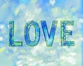 Blue Love 8x10 fine art photograph print