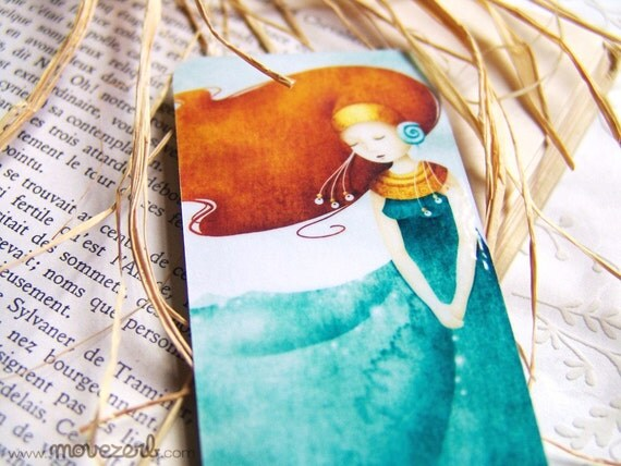 The ocean dress (Ino) - Laminated bookmark