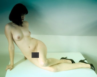 Colored Nude, 11x14 Photograph