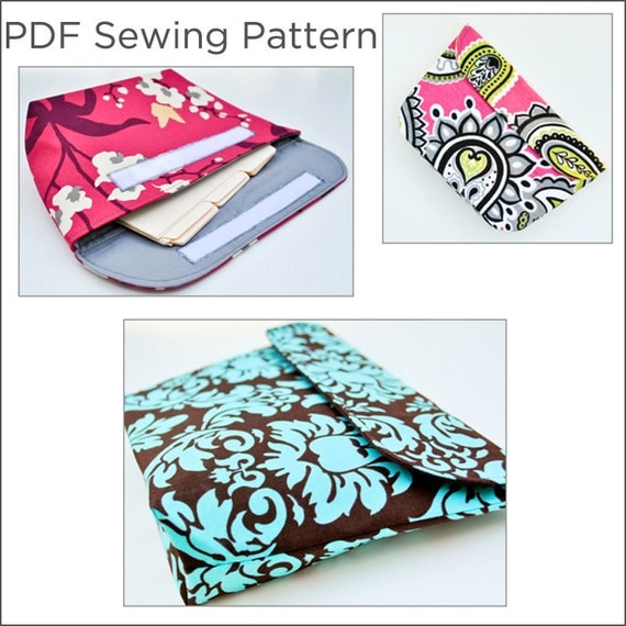 PDF Sewing Pattern -- Coupon File Organizer Clutch with Divider Template -- Instant Download