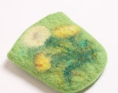 Felted cell phone case Dandelions