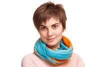 Fashion spring  woolen scarf for   women blue orange woolen