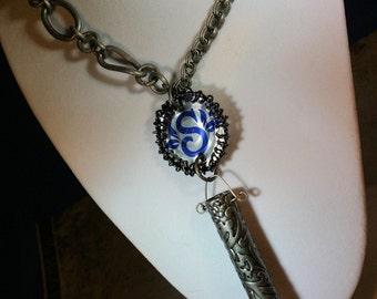 Snapple-Upcyled-Cap--Hematite-Windchime-Necklace-By TPOWERS