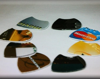 Special-Tab Cut-Jazz-Guitar-Picks-Upcycled-Giftcard-By TPowers