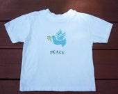 Peace Dove- Cute baby onesie OR kids tee shirt