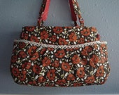 Floral Purse with tatted edgings