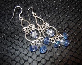 Sterling Silver Swarovski Butterfly Earrings