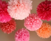 Pretty in Pink - 7 poms