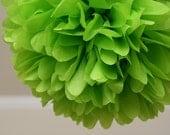 Citrus lime .. Party Pom / Wedding Decor / Bridal Shower / Ceremony / Baby Shower / DIY Decoration