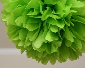 Citrus lime .. Party Pom / Wedding Decor / Bridal Shower / Ceremony / Baby Shower / DIY Decoration