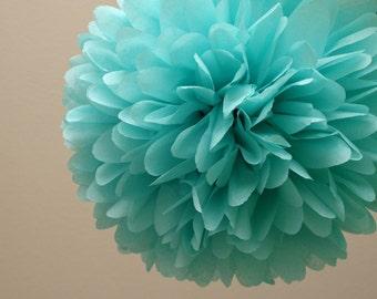 Aqua Tissue Paper Pom
