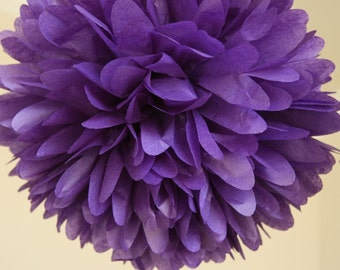 PURPLE Tissue Paper Pom