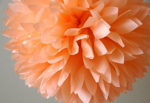 Peach Tissue Pom .. Birthday / Wedding Decoration