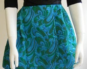 Brocade Cocktail Skirt - Green OOAK