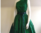 Emerald Silk Cocktail Dress - Made to Order