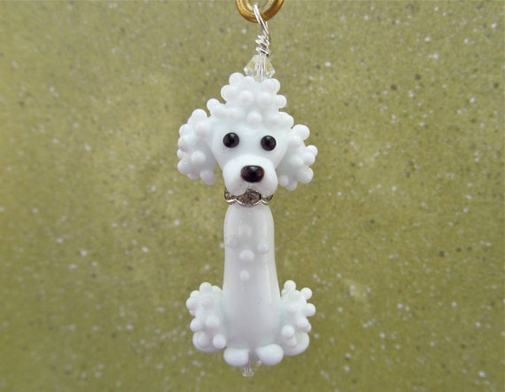 Poodle Pendant - Lampwork Glass Beads