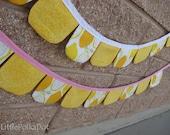 Lemonade Stand, Pink Lemonade, Strawberry Lemonade, Pennant Bunting Fabric Banner, you choose, party banner