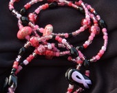 50% toward Breast Cancer Awareness, Research, or Education: Think Pink Ribbon Stretch Bracelet