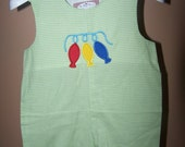 Custom Boutique Fish Fishing Shortall JonJon Monogrammed Personalized