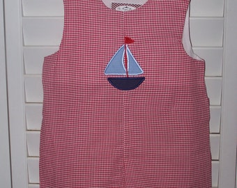 Custom Boutique Sailboat Shortall JonJon Monogrammed Personalized