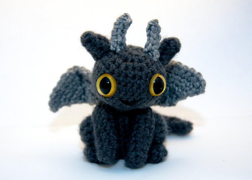 Baby Dragon Amigurumi Dark Gray