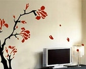 Wall Art Home Decors Murals Vinyl Decals Stickers---Plum Tree