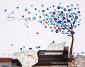 NEW DESIGN Wall decal vinyl art sticker Blowing Cherry Blossom Tree