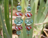 Javanese Lampwork and Crystal Earrings