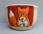 Fox Bowl, Orange And Red
