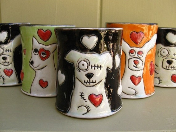 Zombie Love Coffee Mug (Dog)