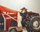 January Tractor Wolf