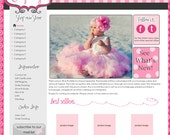 Pink Puddles Boutique Website Template
