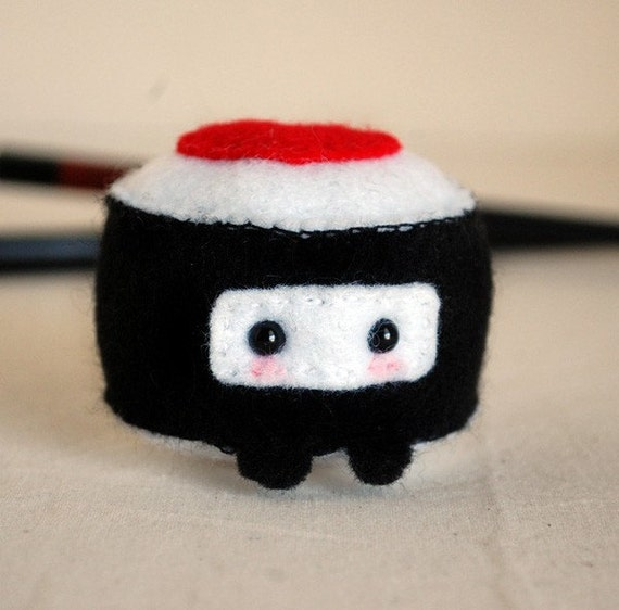 Ninja Sushi - Kawaii Felt Plush