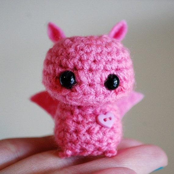 Pink Mini Bat Amigurumi Kawaii Halloween by twistyfishies ...