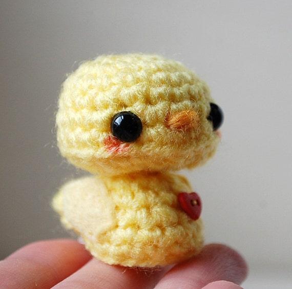 Amigurumi Baby Chicks : Baby Yellow Chick Kawaii Mini Amigurumi